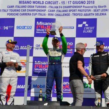 Vittoria a Misano in Porsche Carrera Silver Cup per GIagua
